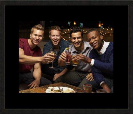 Photo of group of lads - back frame black mount